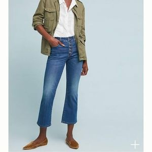 Pilcro High-Rise Cropped Bootcut Jeans Button Fly